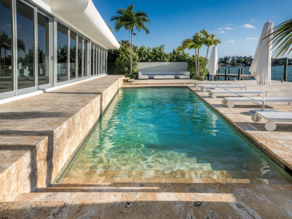 Natural stone for exterior terrace in Puerto Rico