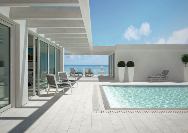 Exterior tiles for pool area in Puerto Rico